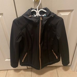 Black & Rose Gold Jacket w Quilted Accents